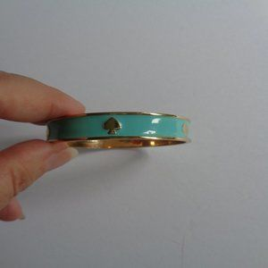 Kate Spade Turquoise Gold Spades Bangle Bracelet